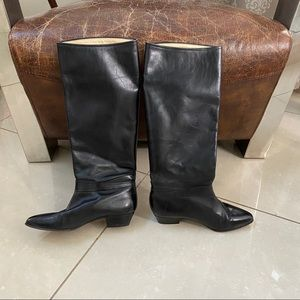 Allure black leather over the knee boots 6